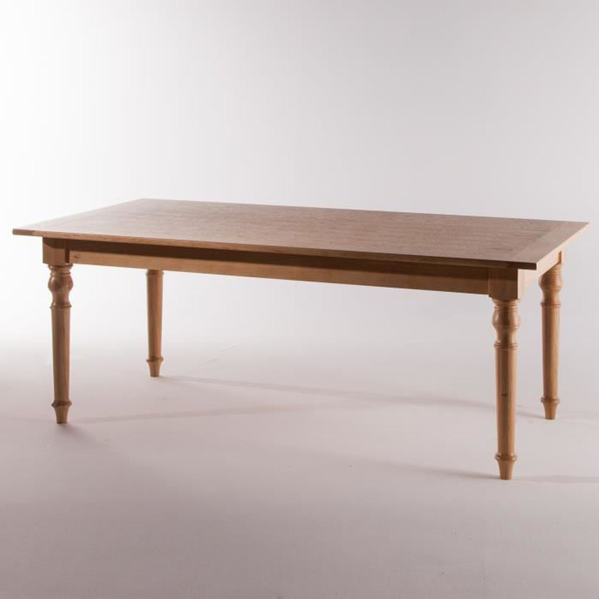 Table manger rectangulaire en ch ne massif long 200 cm for Table a manger rectangulaire