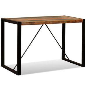 TABLE À MANGER SEULE Table de salle à manger Bois de récupération massi