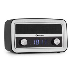 Radio réveil auna Caprice - Radio-réveil rétro avec Bluetooth,