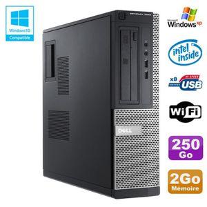 UNITÉ CENTRALE  PC DELL Optiplex 3010 DT Intel G2020 2.9Ghz 2Go 25