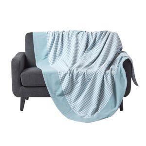 JETÉE DE LIT - BOUTIS Jeté de lit ou de canapé - Vichy  - Bleu - 150 x 2
