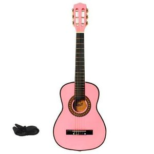 GUITARE LMP Guitare classique rose 75 cm + sangle + médiat