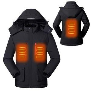 SURENHAP Parka homme Veste chauffante électrique imperméable
