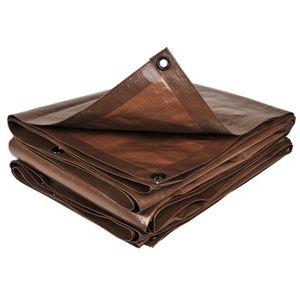 BACHE Bâche de protection coloris marron 3 m x 5 m