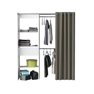 AMENAGEMENT DRESSING Kit placard extensible SPACE en panneaux de partic