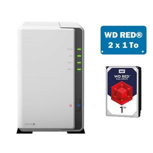 SERVEUR STOCKAGE - NAS  Synology DS218J WD RED 2To