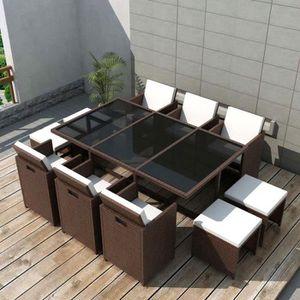 SALON DE JARDIN  Jeu de mobilier de jardin 27 pcs salon de jardin M