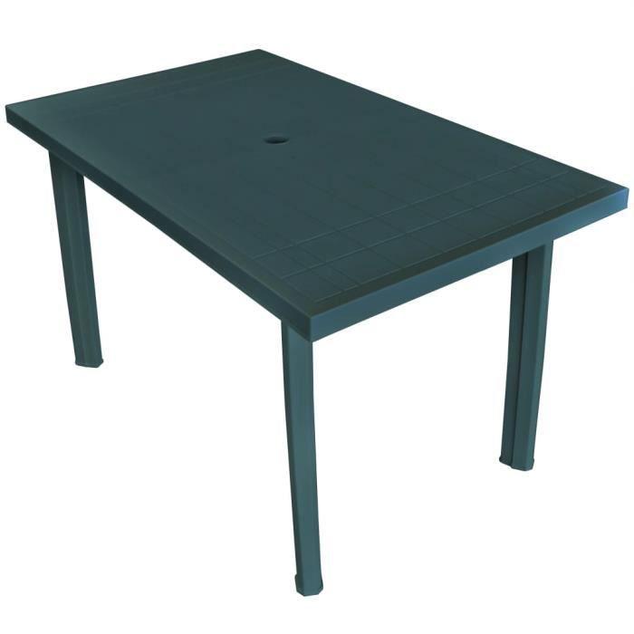 Table de jardin Vert 126 x 76 x 72 cm Plastique