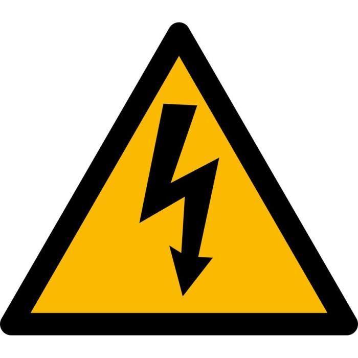 Autocollant sticker danger electrique electricite