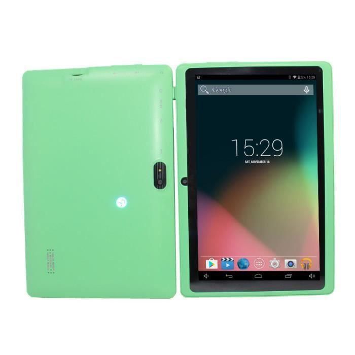 Q88 Tablette pour enfants Android 4GB + 512MB 7 - VERT