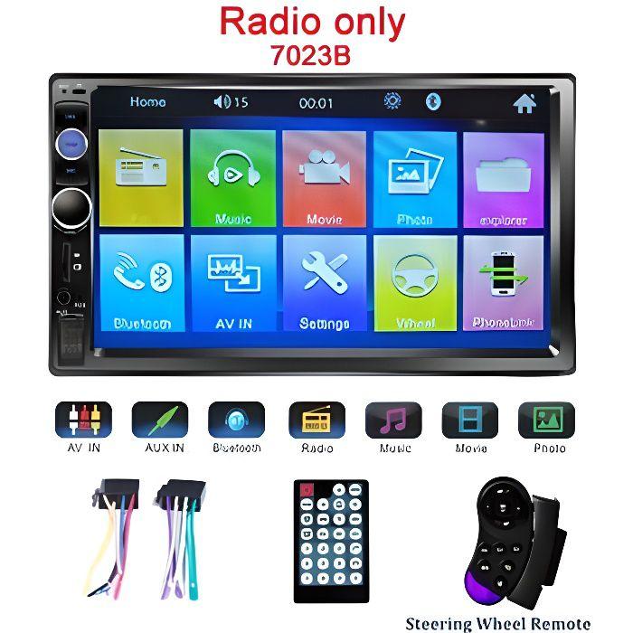 Podofo universel 2 din voiture lecteur multimédia Autoradio 2din Autoradio 7- écran tactile vidéo MP5 - Type 7023B Radio Only