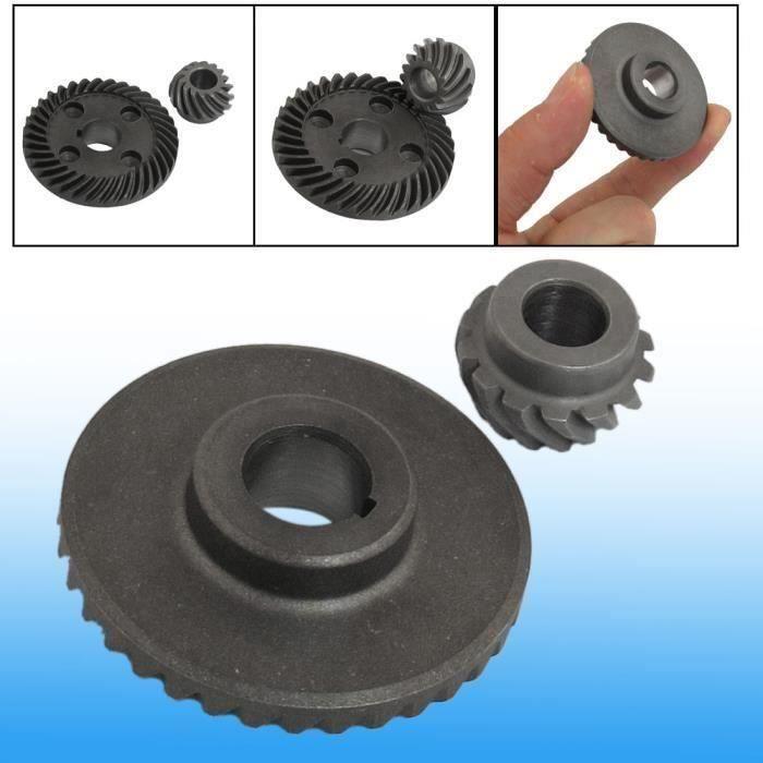 MEULEUSE 2 pièces de remplacement réparation Angle Grinder Moulin à spirale engrenage conique pour Hitachi 100 Bout0109-18D-30789