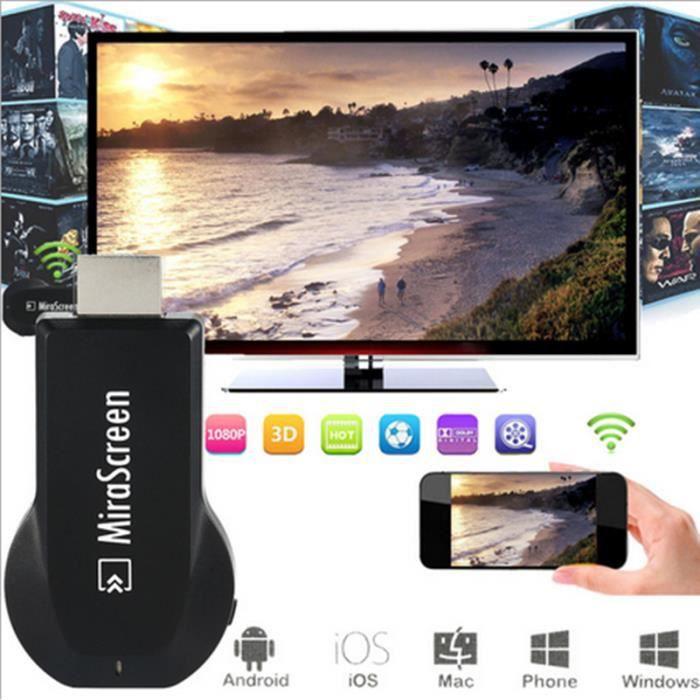 Adaptateur Hdmi sans fil Wifi Miracast Full Hd 1 080p pour Hdtv, ordinateur portable,smartphones, tablettes