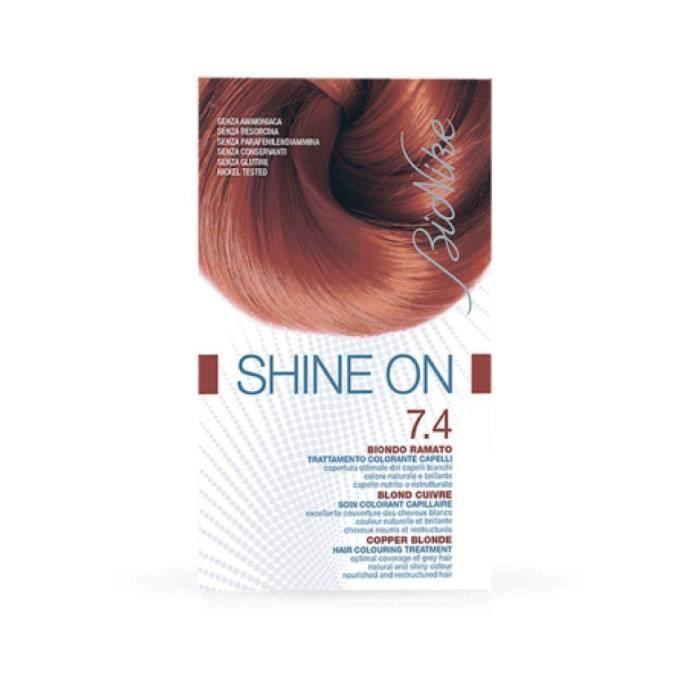 Bionike - Shine On Hs 7.45 Blond Grenade 1 Tube Coloration 50Ml + 1 Flacon Révélateur 75Ml + 1 Sachet Masque Rééquilibrant 15Ml +