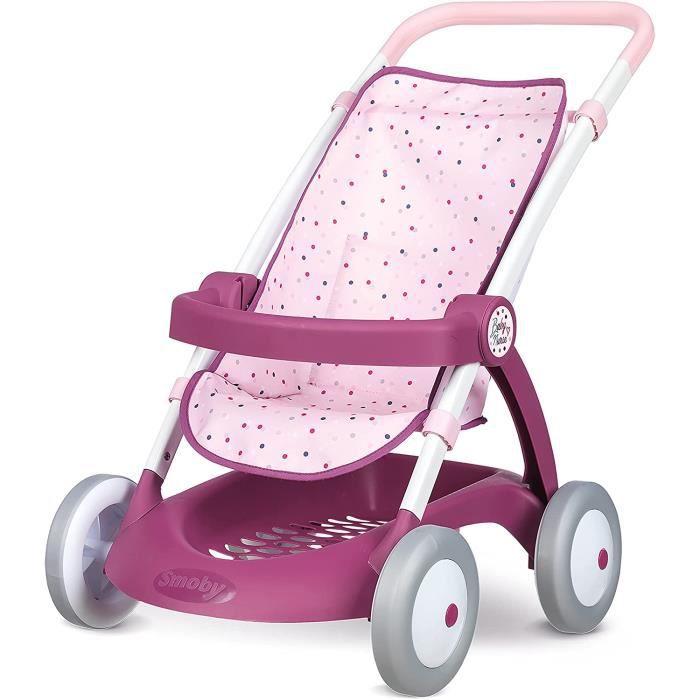 Smoby Baby Nurse Poussette Pour Poupons et Poupeacutees Arceau de Maintien Panier de Rangement 2540032