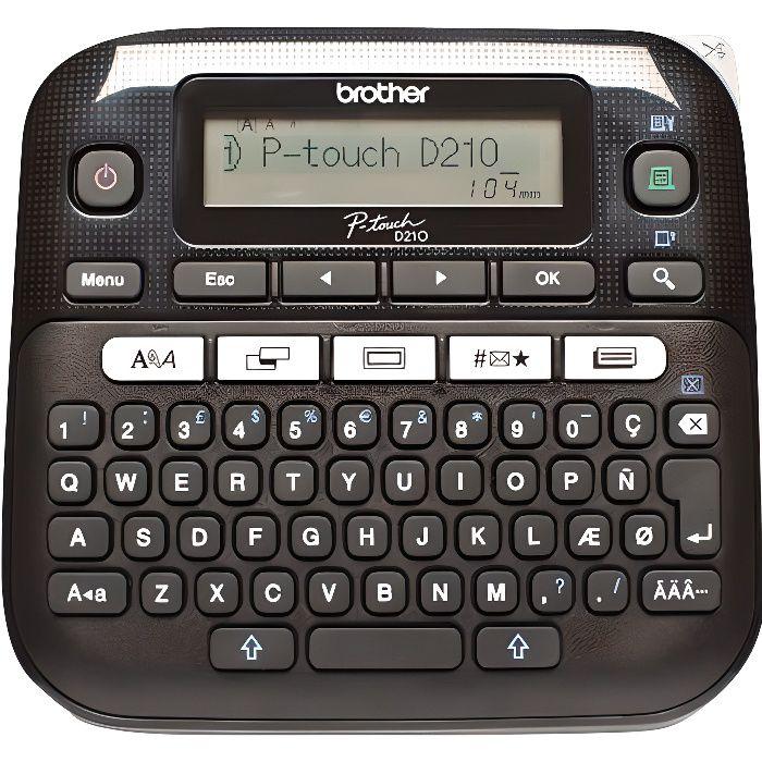 Brother Etiqueteuse portable PT-D210 - Transfert thermique - Monochrome