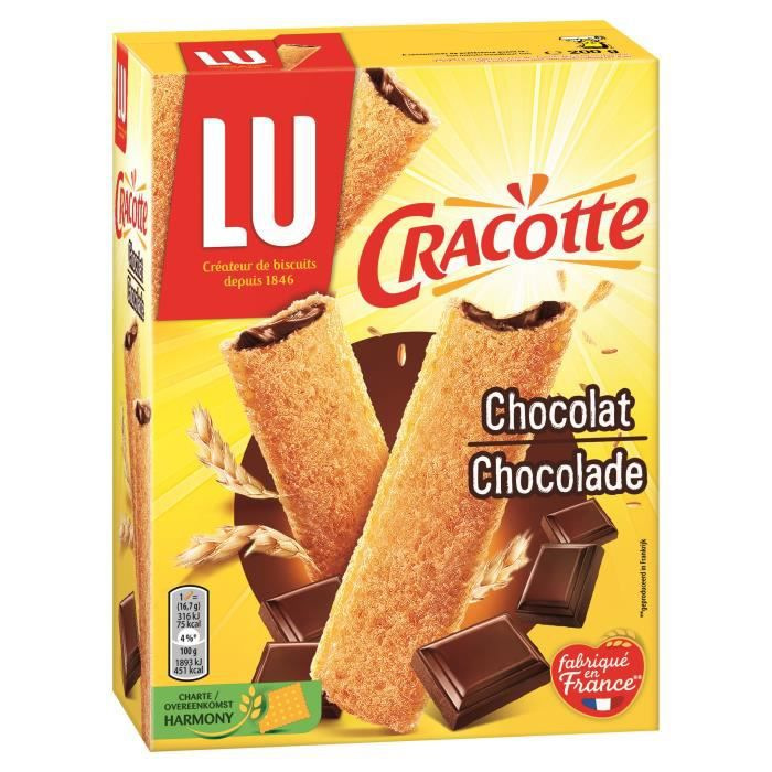 Cracquinettes chocolat 200 g Cracotte