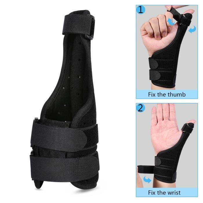 Attelle du pouce médicale, soutien de l'angle support médical du soutien du poignet stabilisateur soutien entorse arthrite -RAI