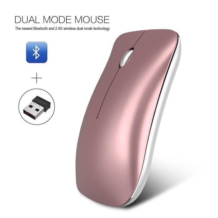 HZDHCLH souris sans fil 2.4Ghz et Bluetooth Optique...