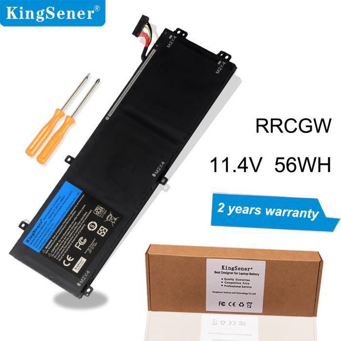 Kingsener Rrcgw Nouvelle batterie d'ordinateur portable pour Dell Xps 15 série 9510 Precision 5510 M7r96 62Mjv 11.4V 56Wh Gratuit 2