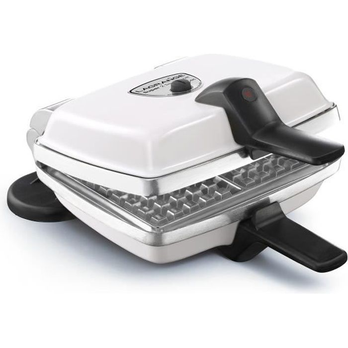 LAGRANGE 039161 Gaufrier électrique Super 2 - Blanc