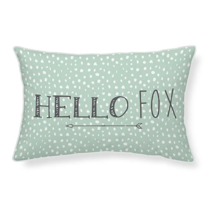 TODAY Coussin 100% coton Hello Fox - 30x50 cm
