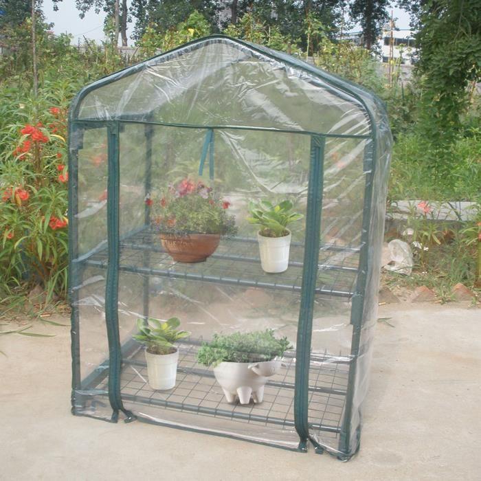 JARD-Lv.life☀Mini jardin portatif serre chaude plantes à fleurs à effet de serre jardinage extérieur☀GOL
