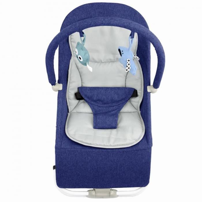 BOUNCER Transat pour bébé de 0 à 6 mois 0-9 kg Bleu