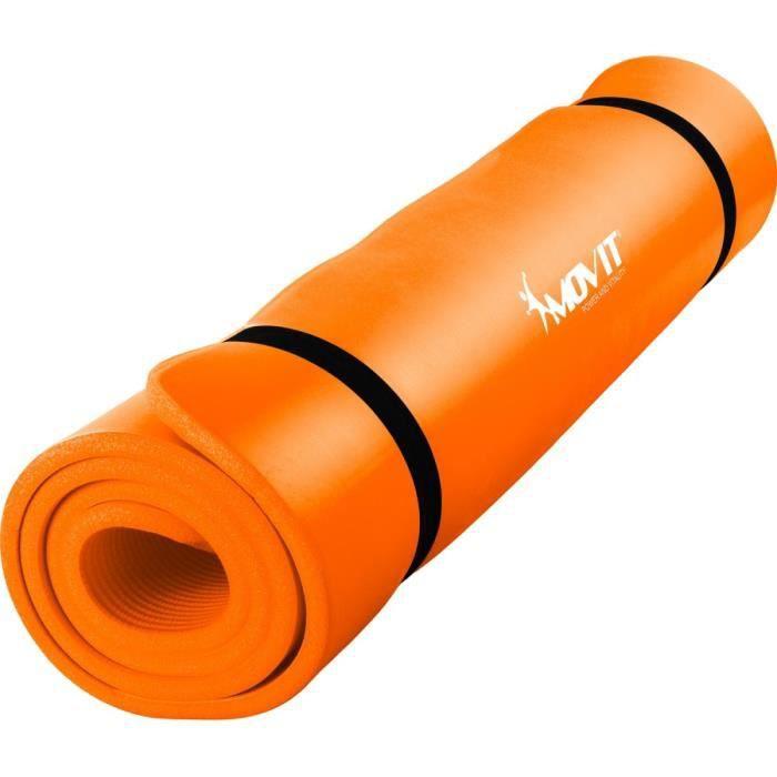 MOVIT Tapis de gymnastique 190cm x 100cm x 1,5cm, orange