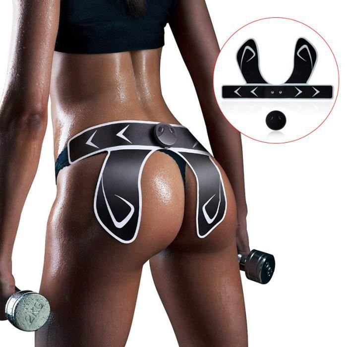 EMS Hips Trainer et Butt Toner Fessier Electrodes Fesses Lift Shape And Firm Butt Corps Masseur(USB Chargée) - BLANC