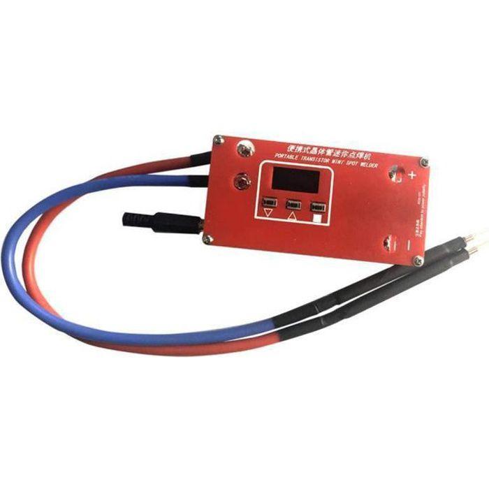 Mini Soudeuse bricolage Machine de soudure ABS Red Portable Batterie 18650 Divers Alimentations de soudage