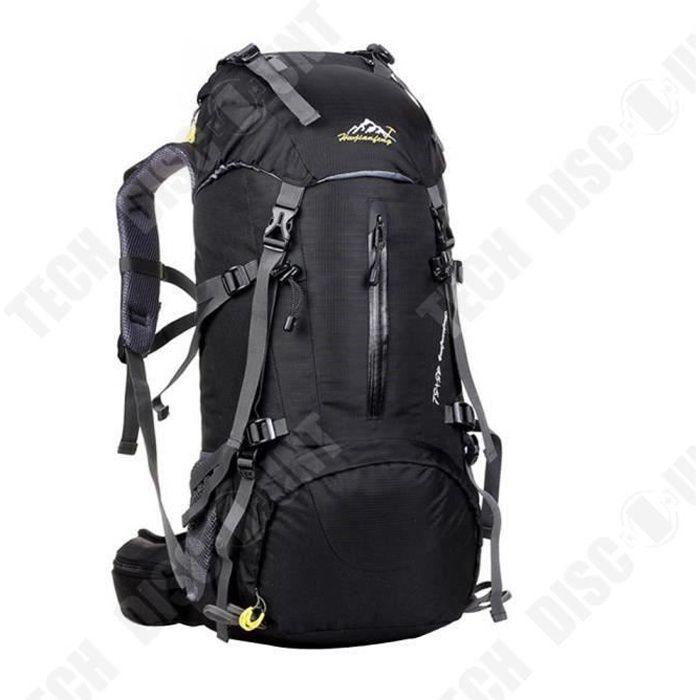 TD® Sac de randonnée imperméable noir- accessoire de randonnée- sac à dos randonnée- sac de voyage