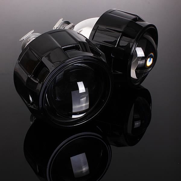 Paire 2.5- RHD Bi-Xénon Hi/Lo HID Projecteur Lens Angel Eye CCFL Halo H1 H4 H7