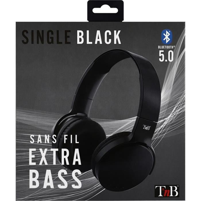 SINGLE - Casque Bluetooth sans fil 5.0 - noir