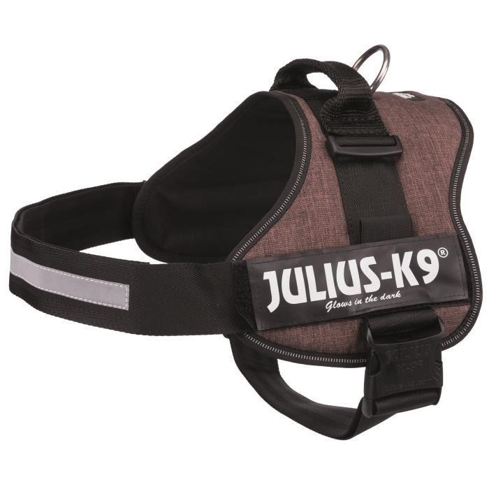 JULIUS K9 Harnais Power 3–XL-XXL : 82–116 cm - 50 mm - Moka - Pour chien