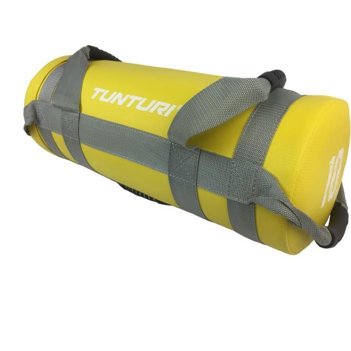 TUNTURI Sac d'entraînement lesté crossfit 10kg jaune