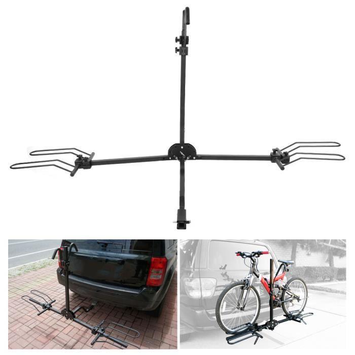 Porte-vélos 80lb Auto remorque arrière attelage de remorquage monté porte-vélos accessoire pratique-YUW