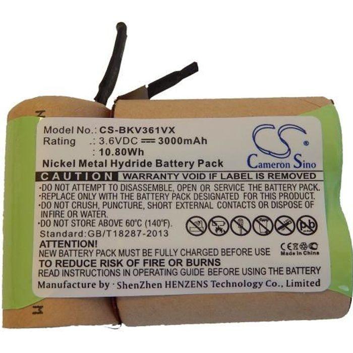 s'adapte aux modèles suivants: Black & Decker V3610. - Batterie de remplacement pour votre aspirateur - Remplace: V3610. - Te…