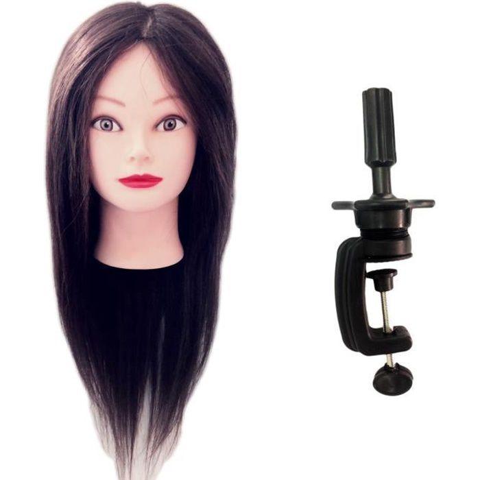 TÊTE D'APPRENTISSAGE Tête à coiffer Professionnelle Claudia - 50 cm Che