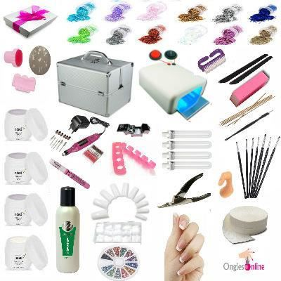 kit manucure valise mallette ongles le uv gel achat vente faux ongles pose kit manucure