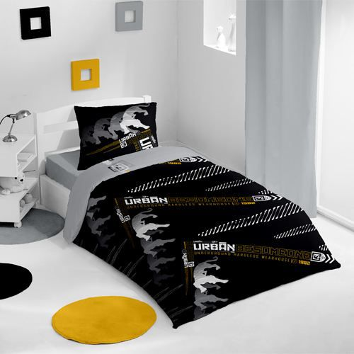 housse de couette et une taie be someone jaune achat. Black Bedroom Furniture Sets. Home Design Ideas