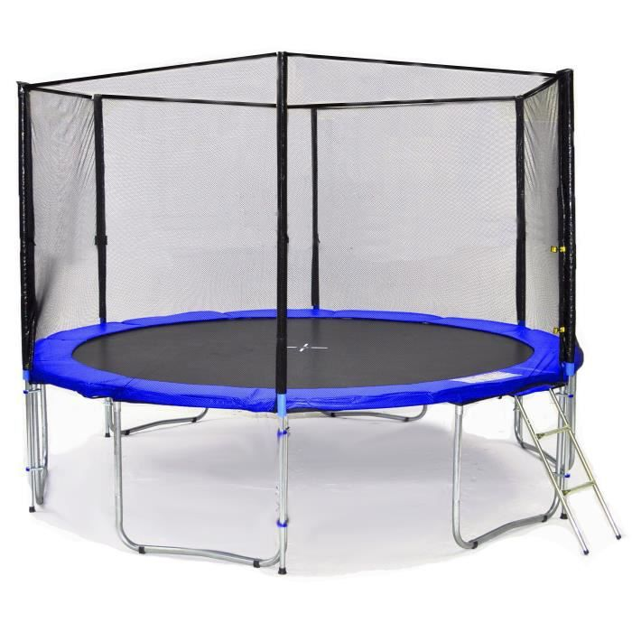 bl t370 ks12bw kid s ports trampoline de jardin 370cm achat vente trampoline soldes. Black Bedroom Furniture Sets. Home Design Ideas