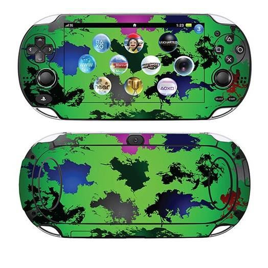 skin stickers pour sony ps vita sticker fond vert. Black Bedroom Furniture Sets. Home Design Ideas