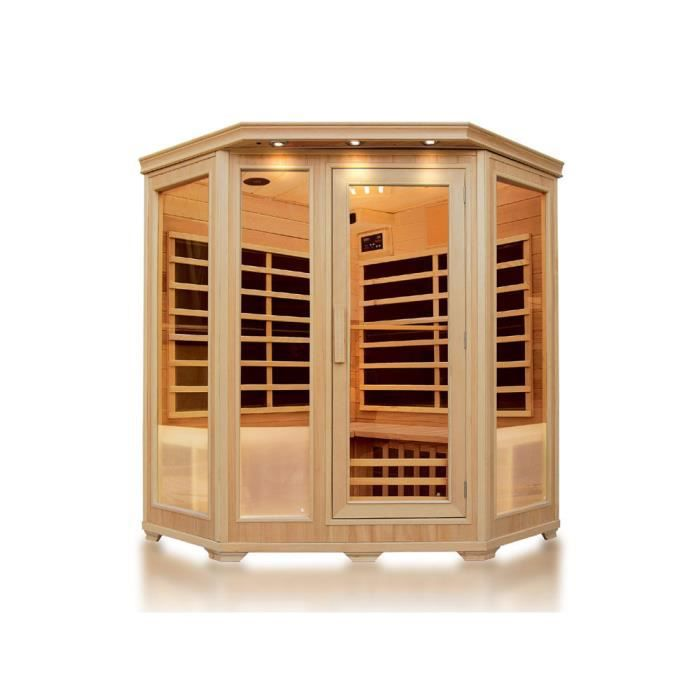Sauna infrarouge 4 places 150x65x120x190cm achat vente kit sauna saun - Sauna infrarouge 4 places ...