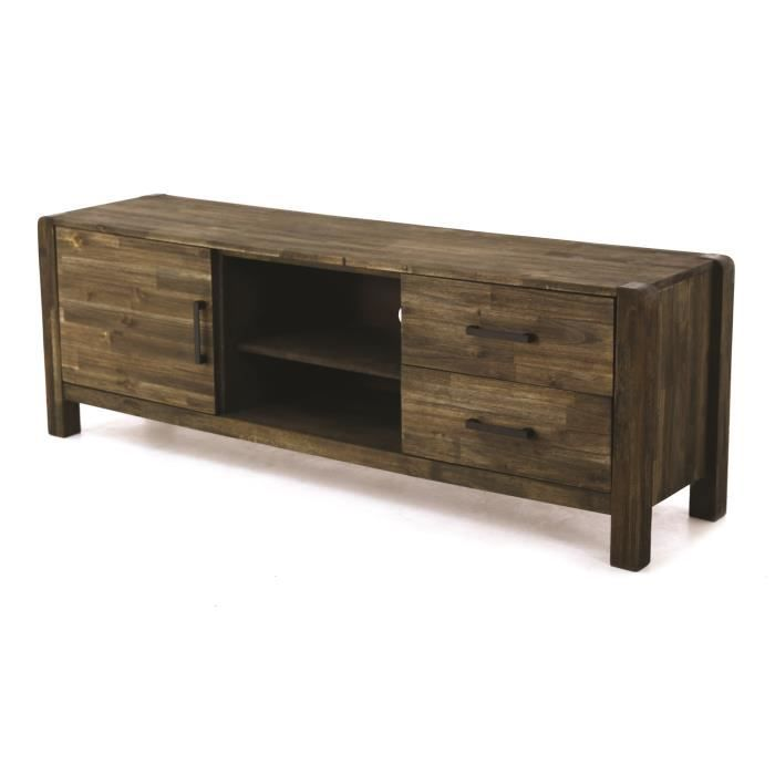 kayu meuble tv romantique en bois massif et m tal marron. Black Bedroom Furniture Sets. Home Design Ideas