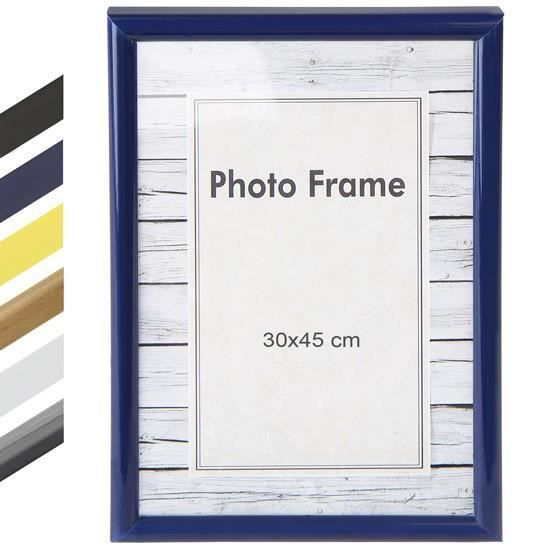 cadre photo 30 x 45 cm en 6 coloris jaune achat vente cadre photo cdiscount. Black Bedroom Furniture Sets. Home Design Ideas