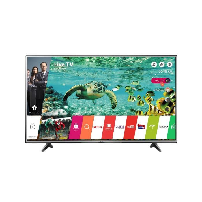 tv lg 55uh615v led 4k hdr 139 cm 55 smart tv t l viseur led avis et prix pas cher. Black Bedroom Furniture Sets. Home Design Ideas