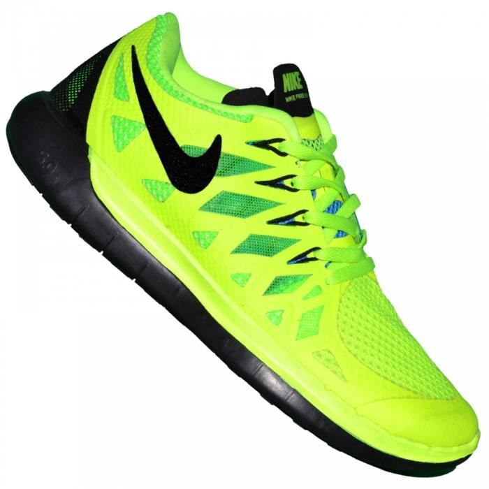 nike basket running femme free run 5 0 vert fluo prix pas cher cdiscount. Black Bedroom Furniture Sets. Home Design Ideas