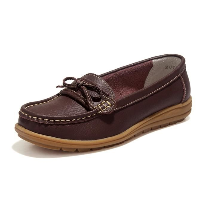 Driving Loafers Slip On Soft Walk Flats Moccasins Anti-skid Boat Shoes GEHT2 Taille-40