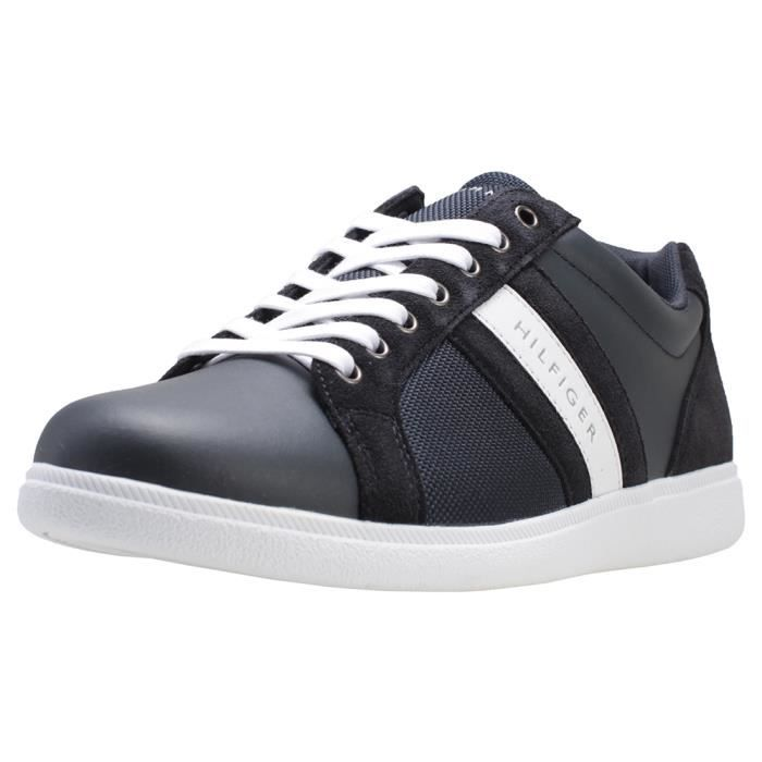 Core Corporate Sneaker, Sneakers Basses Homme, Bleu (Midnight 403), 45 EUTommy Hilfiger